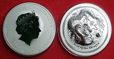 2012 Australia 10 oz Lunar Dragon .999 Silver Bullion Coin. Amazing low start.