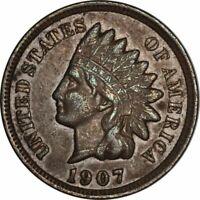 1907 Indian Cent - Very Nice High Grade Circ Collector Coin! -d989txn