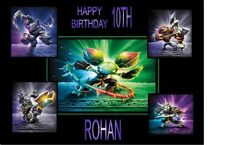 PERSONALISED SKYLANDERS A4 TRIFOLD BIRTHDAY CARD ANY NAME AGE GREETING