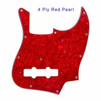 For Fender 11 Holes 4 String MIJ Janpan Jazz Bass Guitar Pickguard,Red Pearl