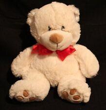 VINTAGE NEW NWT GOFFA WHITE BEAR RED BOW TIE 12 INCH PLUSH TOY STUFFED ANIMAL