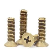 Brass Phillips Flat / Countersunk Head Machine Screw Bolts M2 M2.5 M3 M4 M5 M6