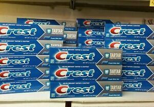 Lot of 24 Crest Toothpaste Tartar Protection   Fresh Mint Gel