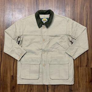Cabelas Outdoor Gear Heavy Duty Khaki Jacket Hunting Fishing Pockets Sz Medium