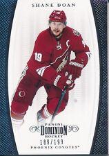 2011/12 Panini Dominion #46 Shane Doan Base Card (Serial Numbered 189/199)