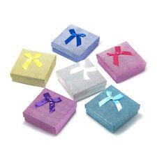 12pcs Rectangle Jewelry Bracelet Gift Boxes Sponge Present Packing Case 9x9x3cm