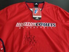 SHERYL SWOOPES Houston Comets WNBA Signed NEW Shooting Warmup Shirt M Adidas HOF