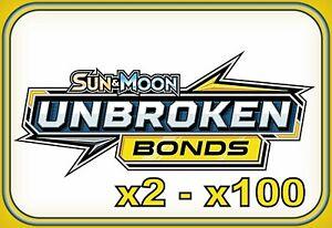 Sun & Moon UNBROKEN BONDS CODES ~ Pokemon Online Booster Code Cards TCGO Digital