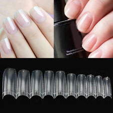 500 x Artificial French False Acrylic Nail Half Well Art Tips White Clear UV Gel