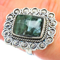 Large Seraphinite 925 Sterling Silver Ring Size 7.25 Ana Co Jewelry R56980F