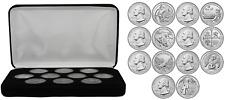 2019-W & 2020-W West Point Mint 7 Quarter Bu Coin Set w/ Black Felt Display Case