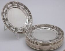 Towle Candlelight Sterling Silver Plates set of 12 No Monogram Rare