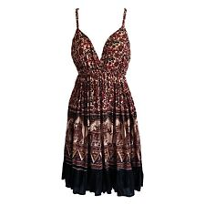 Hippie Boho Strappy Sun Dress One Size, elasticated waist & back Fair Trade