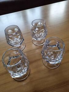 4 Nachtmann Cognac Gläser ALEXANDRA Bleikristall 70er Jahre