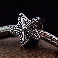 Genuine SOLID 925 Sterling Silver charm bead Celtic Star fits European bracelet