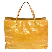 Louis Vuitton Reade GM M91140 Monogram Vernis Tote Satchel Hand Bag Beige LV