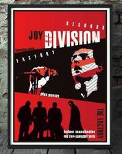 Joy division music print mini poster. Specially created.