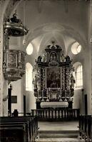 Chiemgau Bayern Postkarte 1956 gelaufen Inneres der Wallfahrtskirche Maria Eck