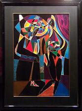 "Neal Doty ""Mardi Gras"" Hand Signed with custom frame Artwork, Make Offer! L@@K!"