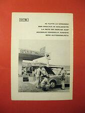 Pubblicita advertising AGIP SUPERCORTEMAGGIORE distributore - FIAT 1100 - 1960