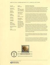 #4358 42c Alzheimers Awareness USPS #0842 Souvenir Page