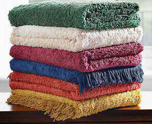 Traditional 100%Pure Cotton Thick Luxury Chenille Table Covers Tablecloth Fringe