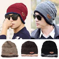 Women Men Knit Wool Slouch Baggy Cap Winter Warm Hip-hop Beanie Crochet Ski Hat