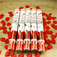10 Konfetti Kanone Shooter ROSEN Party Popper 40cm Hochzeit Konfettibombe Regen