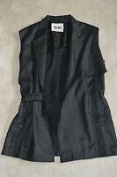 Acne Studios Tell Grey Sleeveless Waistcoat Gilet Jacket Womens Size EU 34 UK 8