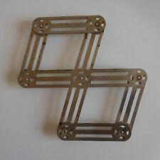 Dessous de plat pliable 1950 vintage art déco métal cuisine table design N4718