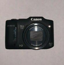 Canon PowerShot SX160 IS 16.0MP Digital Camera - Black AA