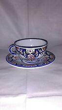 Tasse et sous-tasse, Céramique de Rouen