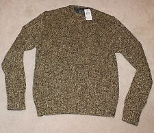 $125 New POLO RALPH LAUREN Speckled Ribbed Sweater Men's Medium M Green Beige