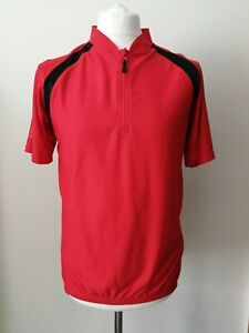 MUDDY FOX New with Tags Cycling Short Sleeves Red Mens Jersey Breathable Fabric