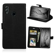 Huawei P20 Mobile Wallet Case PU Leather Book Cover Black