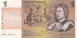 1983 Australia $1 Note, Pick 42d