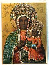 RARE Black Madonna Our Lady of Czestochowa holiest relic Poland & Ukraine