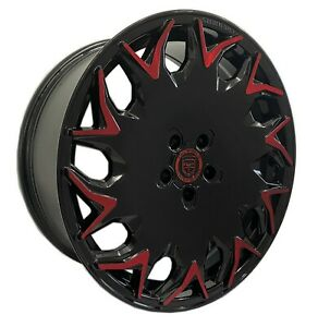 4 GV06 20 inch Black Red Rims fits LEXUS ES 300H 2013 - 2018