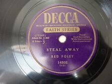 Red Foley Jordanaires Steal Away / Just a Closer Walk with Thee DECCA 14505