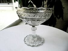"EAPG Star in Diamond Gillinder & Sons Small Compote 4 3/4"" Wide c1880"