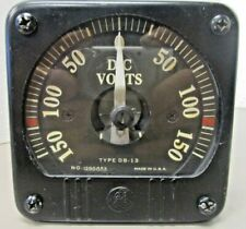 General Electric 8db13vcr3 Opposing Range Panel Meter Dc Volts 0 150 1298853