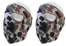 2 pcs Neoprene Brown camo full facemask winter resistant one size unisex