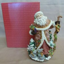 Fitz & Floyd Snowy Woods Santa Claus Music Box Musical and Centerpiece Figurine