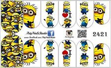 #2421 Nail Art Slider design decal stickers  Minion -best seller!