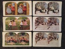 6 Black Americana Steroscope Steroview Cards 1898 Br'er Rabbit & More Ingersoll