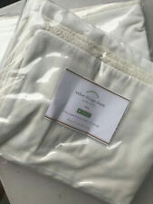 Pottery Barn Set of 2 Velvet Fringe Shams Ivory Euro NEW