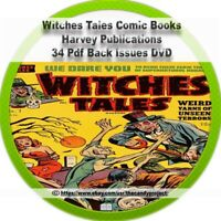 Witches Tales 34 pdfs horror-anthology comics Harvey Publications DVD