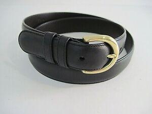 COACH #8400 Black Leather Belt Brass Buckle Size M Excellent Condition!
