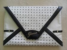 GUESS clutch handbag white/blue