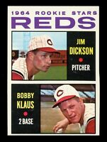 1964 Topps Baseball #524 Jim Dickson / Bobby Klaus Reds Rookie Stars - SBID004